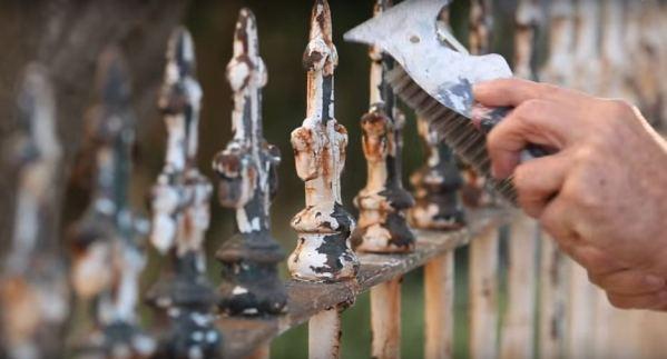 Цена покраски металлического старого ржавого забора купить краску в Киеве